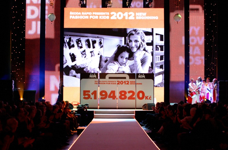 Some 5million CZK was raised for the Tereza Maxova Foundation at their Fashion for Kids gala