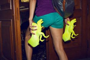 Awkward Collection- the famous Dino shoes from Prague Fashion Weekend 2012