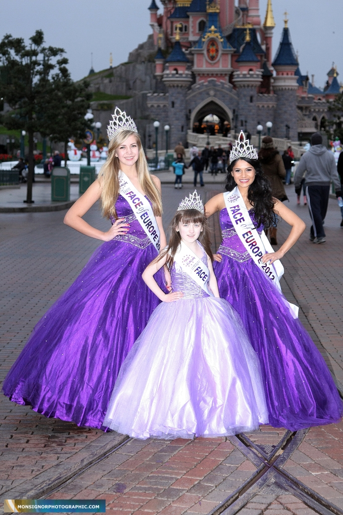 A gaggle of beauty queen winners- Face of Europe competition at Disneyland Paris