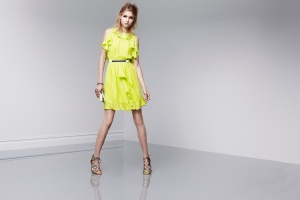 Be the brightest in this electric yellow, ruffle dress: Prabal Gurung