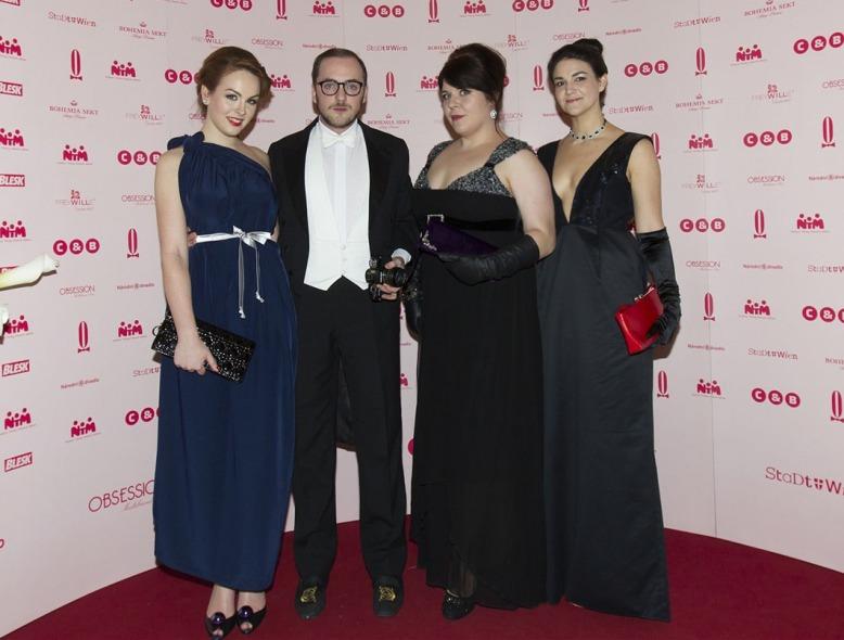 The OnaIdnes Group (from left to right) Maruška Václavová, Vojtěch Kaštánek, Cindy Kerberova -Fashion Editor at OnaIdnes- and Heather O'Brien