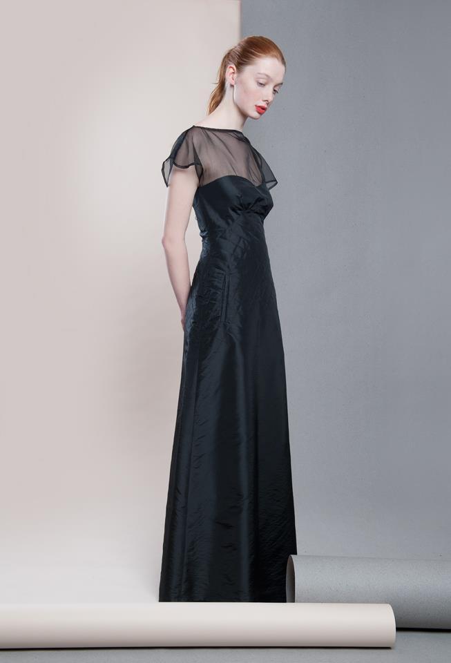 An elegant taffeta evening gown. 13,000CZK (special order)