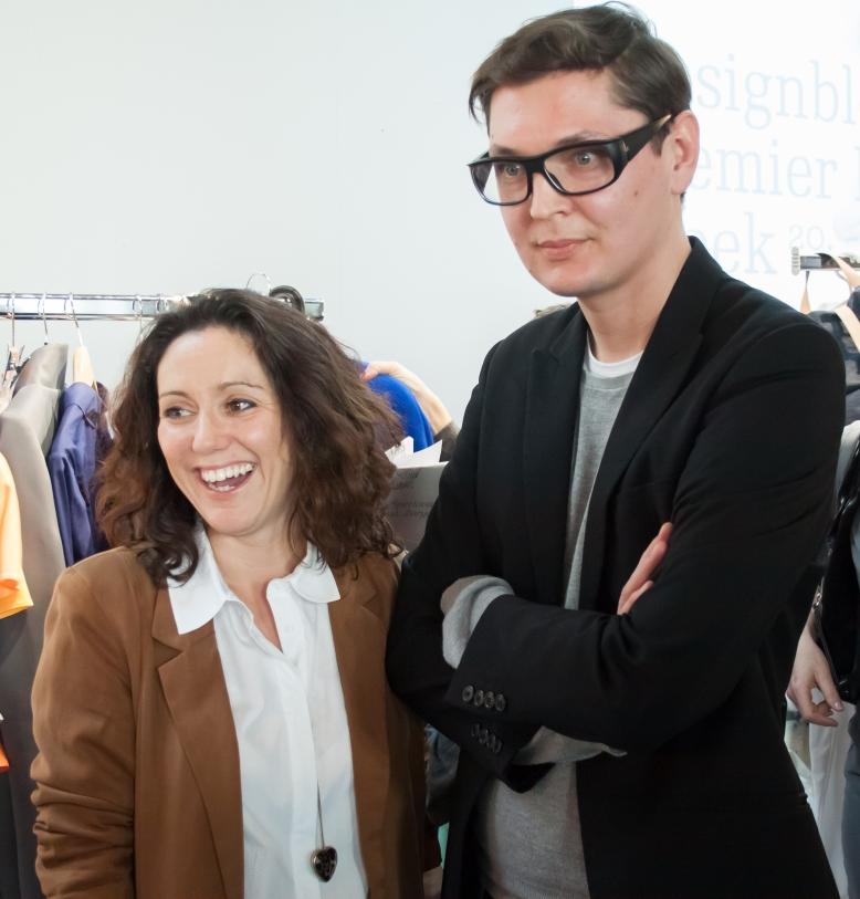 Katarina Kral and Pavel Brejcha- duo behind the outstanding fashion line PBL Prague after Designblok Premier Spring Fashion Week 2013Photo Credit: Benjamin Vales