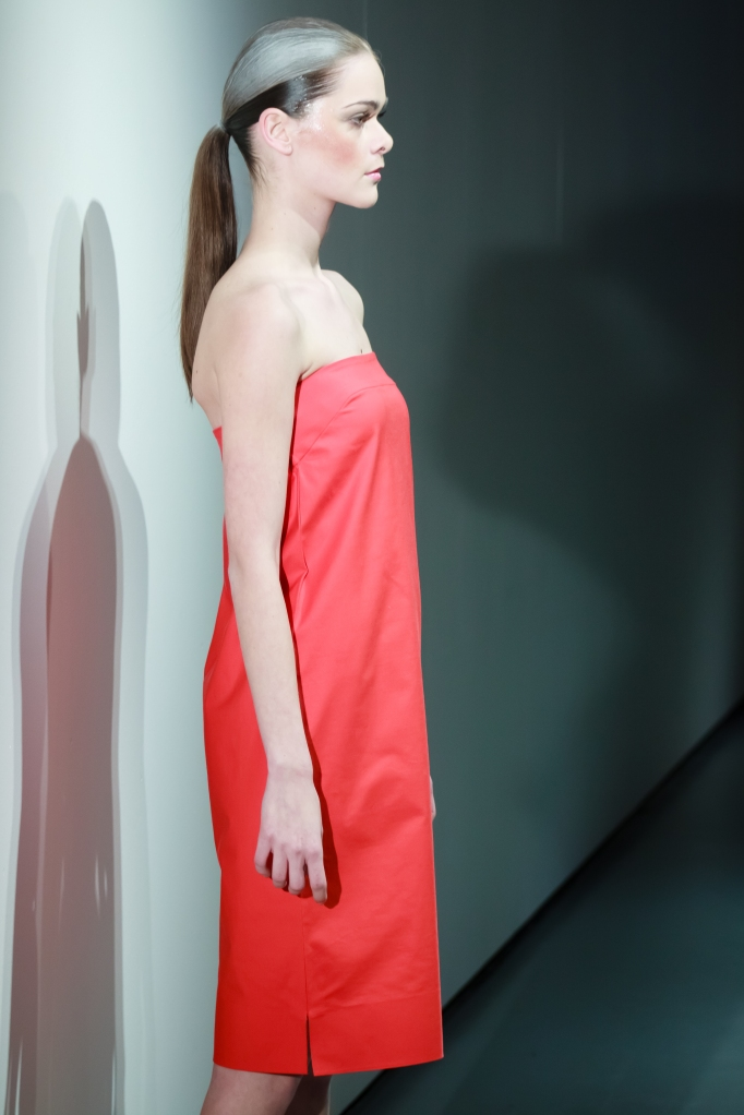 Strapless dress by student Monika Krobová Photo Credit: Benjamin Vales