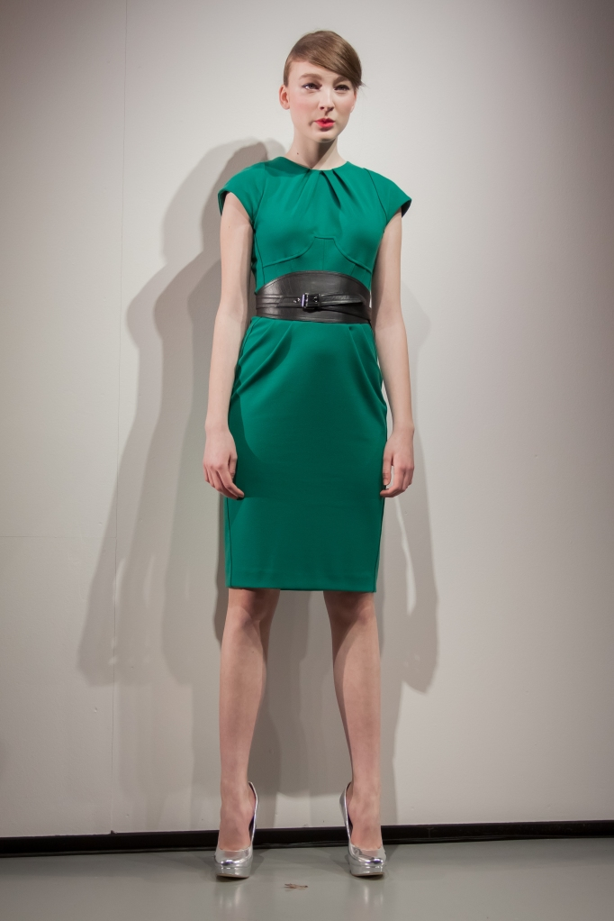 Emerald green trend was covered by Klara Nademlynska's s/s13 collectionPhoto Credit: Benjamin Vales