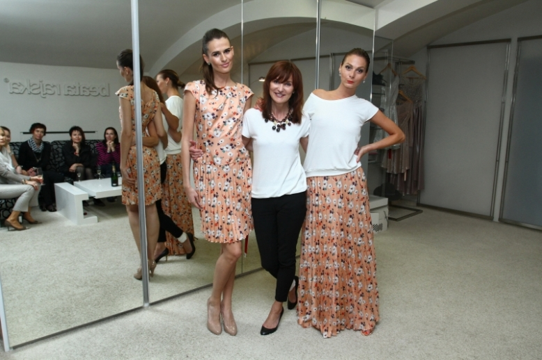 Czech designer Beata Rajska with her spring/summer 2013 pieces. Photo Credit: Jiří Herman