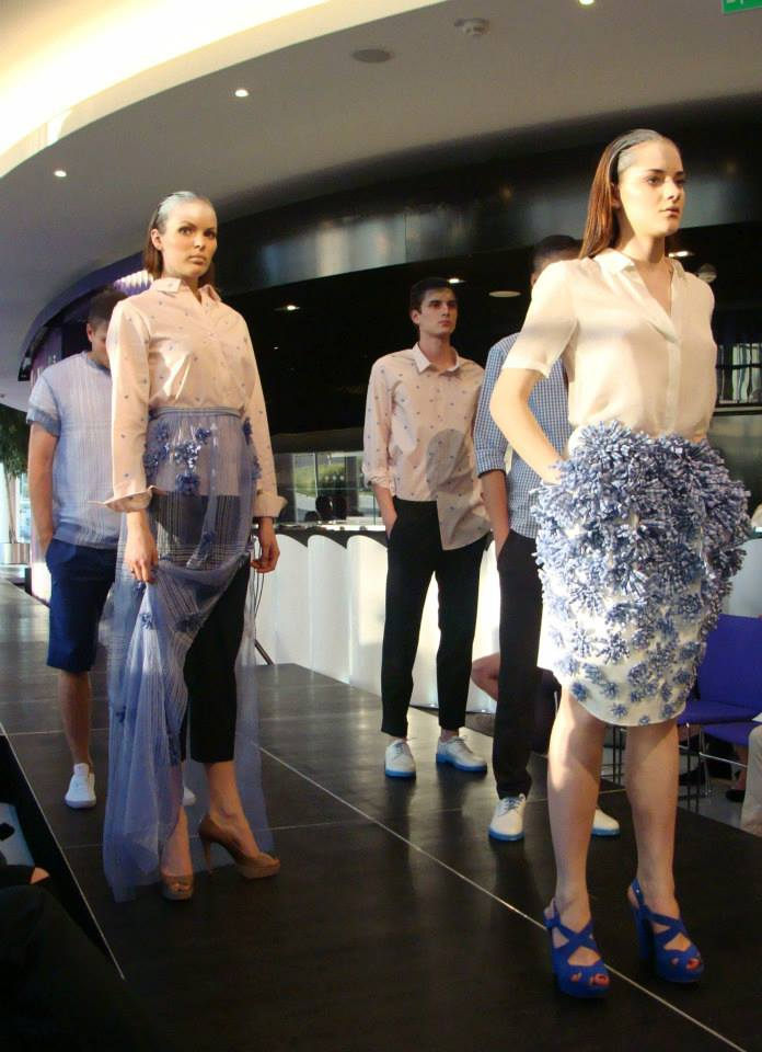 Tereza Maslnova brought a new twist on gingham and flowers- wearable 20's pieces with a modern twist