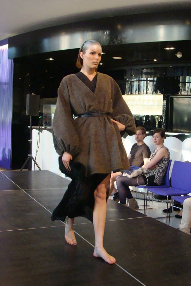 Sabina Panackova's collection made oversized sweaters and jackets actually wearable and sexy