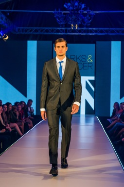 Slim cut suits show more of the male physique