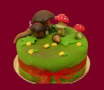 Marzipan cakes can be made in a wide variety of themes
