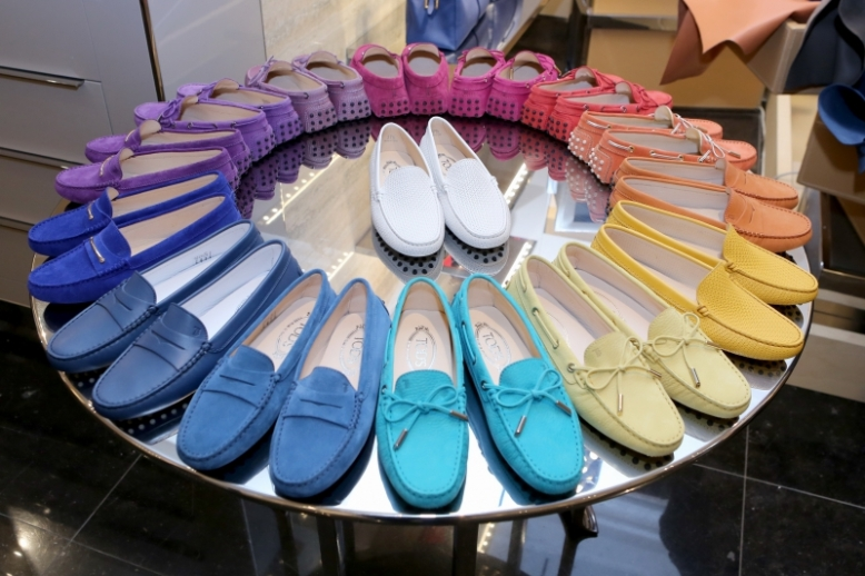 Collection of spring/summer 2014 shoes at Tod's Photo Credit: Hermina
