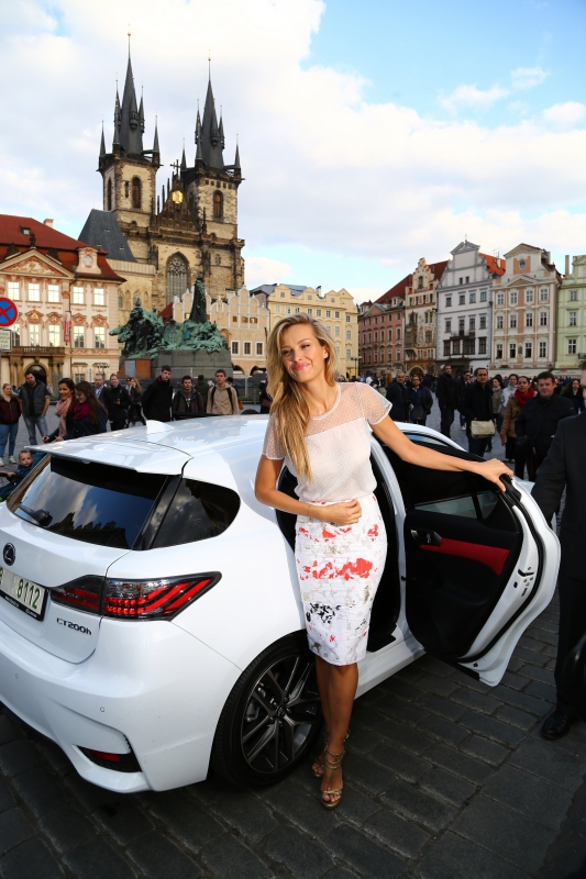 Supermodel Petra Nemcova opens the second Prague Fashion Night in Old Town Square Photo Credit: Hermina