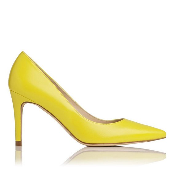Summer yellow court shoe by LK Bennett