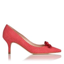 LK BENNET polka dot court shoe