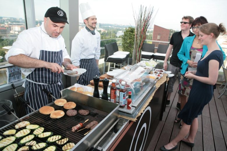 Brits and Americans may love a BBQ, but so do the chefs here Photo Credit: Cloud 9